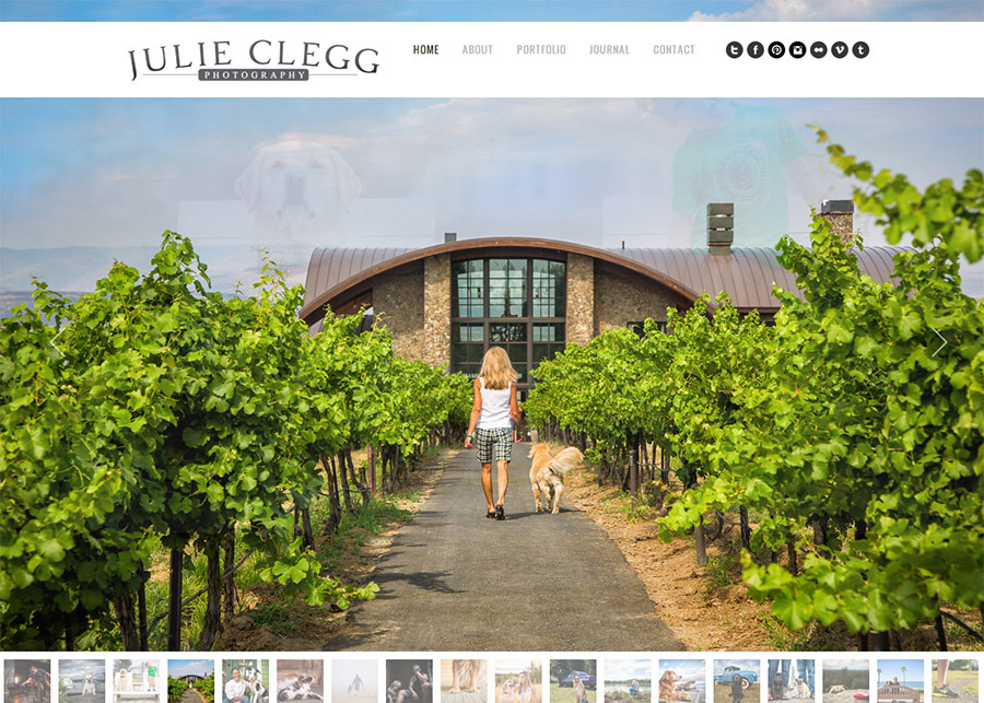 Julie Clegg Website and Identity