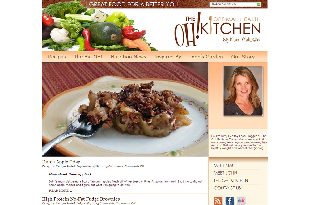 "The ""OH! Kitchen"" Custom Website"