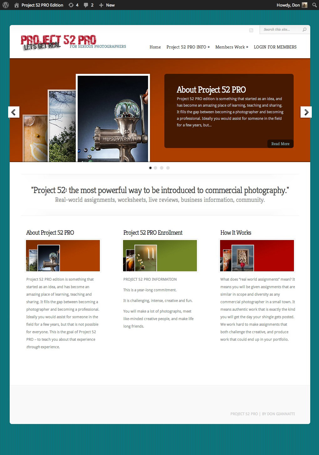 Project-52-PRO-Edition-main-page