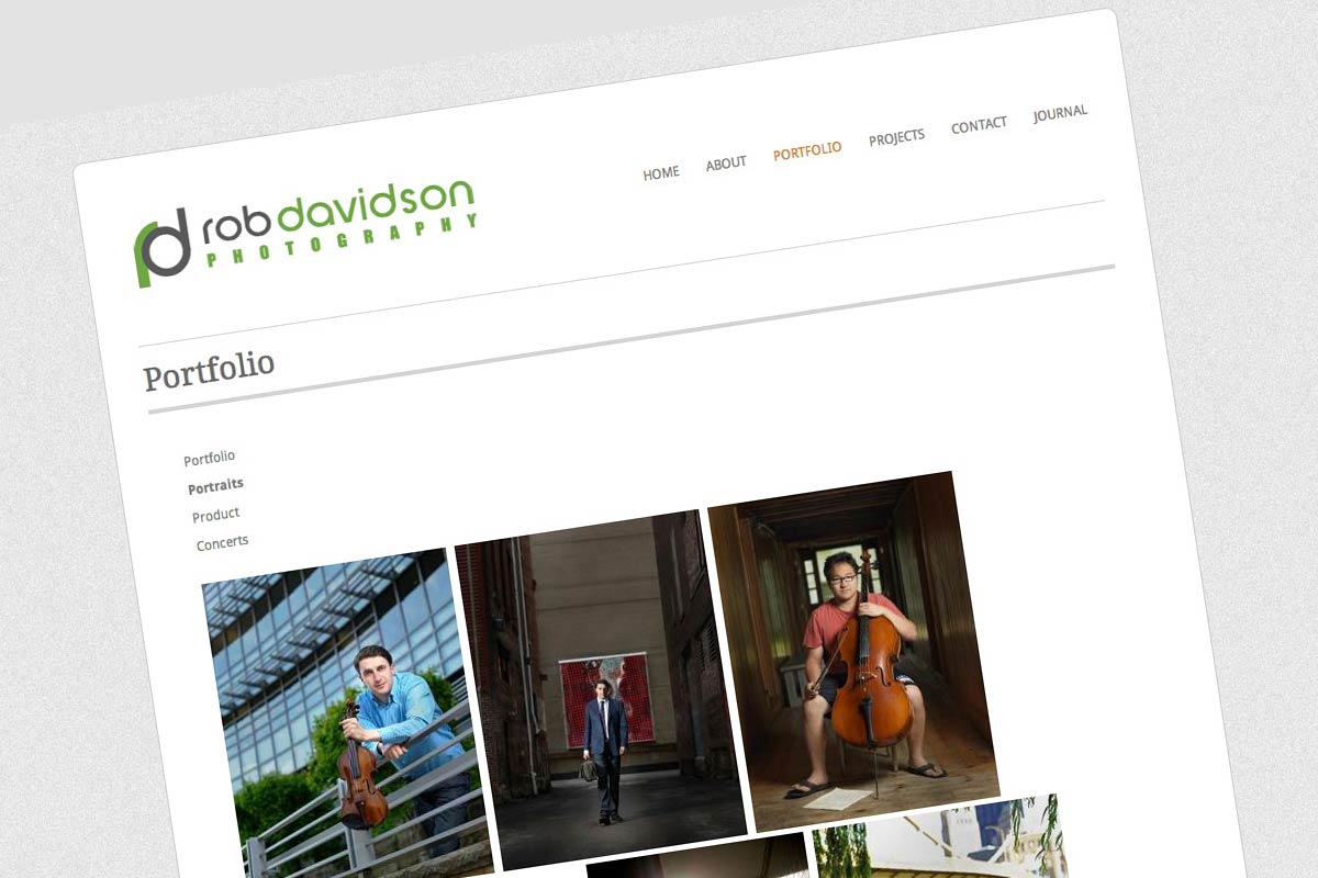 Rob Davidson Photographer: Website Design/Portfolio Flow